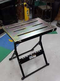 harbor freight welding table hf adjustable steel welding table archive the garage journal board