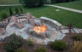 Backyard View 42 Backyard And Patio Fire Pit Ideas Large Fire Pit Flagstone