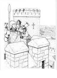 coloring pages castles draw bridge image