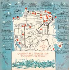 Tourist Map Of San Francisco by 1963 San Francisco Tourism Map Middle Pages From