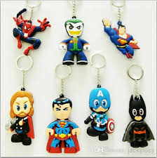baby keychains new popular the pvc keychain iron superman batman