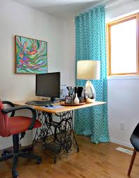 create a cheerful atmosphere with colorful home office design