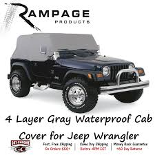 grey jeep wrangler 4 door 1261 rage 4 layer gray cab cover for jeep wrangler 2 door ebay