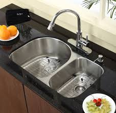 30 inch undermount double kitchen sink kraus kbu21 30 inch undermount 60 40 double bowl kitchen sink with