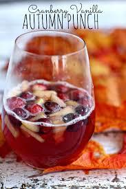 cranberry vanilla mock sangria recipe thanksgiving meals and