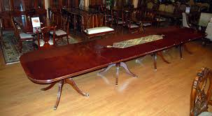 buy large sheraton burl mahogany dining table by mm signature from