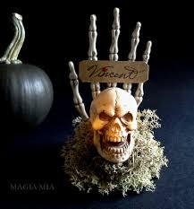 magia mia halloween skull u0026 skeleton hand place card holders