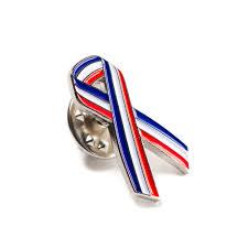 white blue ribbon flag lapel pin white blue lapel pin patriotic lapel pins