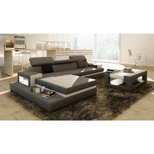 White Leather Coffee Table Divani Casa 5081b Grey And White Leather Sectional Sofa W Coffee