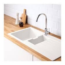 C Kitchen Sink Hällviken Lava Loiça Encastr 1 Bac C Escorr Branco Composto