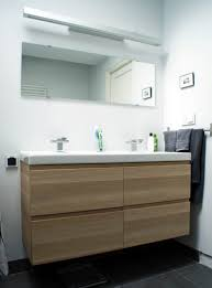 ikea bathroom sink cabinet grey stone concrete wall decorating