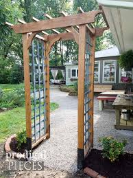 how to build an arbor trellis diy garden arbor with faux patina build plans prodigal pieces