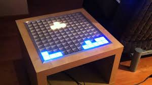 interactive rgb led table from ikea lack side table youtube