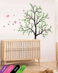 large nursery wall decals tree wall decal cherry blossom mural large nursery decor kr019