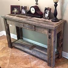 diy entryway table plans diy rustic sofa table pinnipedstudios com