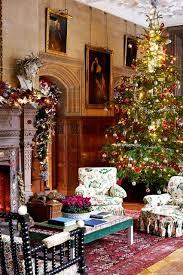 traditional english decoration holker hall christmas tree