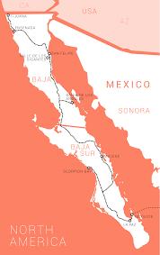 Baja Map Panamericana The Journey Of A Lifetime Mexiko