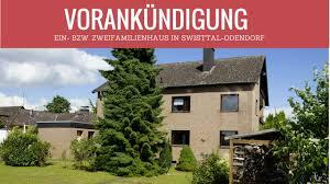 Einfamilienhaus Zu Kaufen Vorankündigung Swisttal Odendorf Ein Bzw Zweifamilienhaus Zu