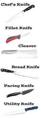 different types of kitchen knives and their uses use of kitchen knife here is a list of different types of knives and