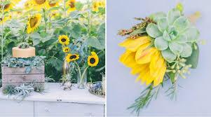 erste hochzeitstag sonnenblumen und sukkulenten eine bezaubernde kombination für
