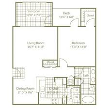 sunroom floor plans 2 bed 2 bath apartment in nc the enclave at rivergate