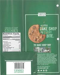 where to buy tate s cookies tree nut walnut allergy alert tate s bake shop chocolate chip