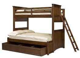 beadboard textured dark cream bunk beds with pull out storage