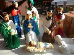 Nativity Sets Outdoor Plastic Lighted Vintage Empire 10pc Lighted Blow Mold Nativity Set 12
