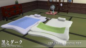 Sims 4 Furniture Sets Ts4 Japanese Room Set Noir And Dark Sims