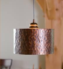 Hammered Copper Pendant Light In Hammered Copper Drum Pendant Shade Kitchen Pinterest