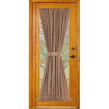 interior decor inspiring doors idea using door panel curtains