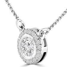 round stone necklace images Bezel set diamond necklace bijoux majesty jpg