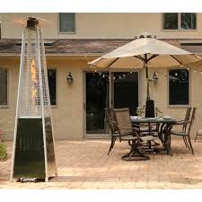Stainless Steel Patio Heater 7 Ft Pyramid Propane Patio Heater In Stainless Steel Han102ss