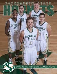 2012 13 sacramento state men u0027s basketball media guide by hornet