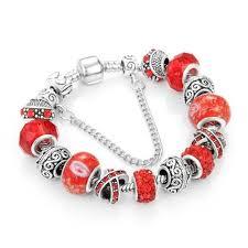 european snake chain bracelet images European ribbon charm bracelet women crystal beads snake chain jpg