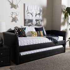 Black Daybed With Trundle Buy Baxton Studio Silvana Daybed With Trundle Finish Black