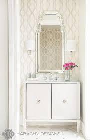 Wallpapered Bathrooms Ideas Art Deco Powder Room Design Hollywood Regency Bathroom