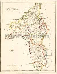 county roscommon ireland map 1837