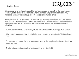 when is an employment contract necessary 35 perfect termination