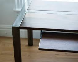 Steel Frame Desk Walnut Desk Or Dining Table Steel Frame Custom
