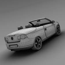 3d volkswagen eos convertible cgtrader
