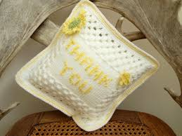 Crochet For Home Decor by Crochet Cushion Cover Good Luck Quote Gift For Her