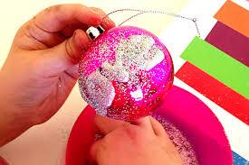 decorations heartfelt glitter baubles