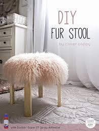 diy fur stool clever poppy