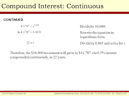 chapter outline exponential growth and decay compound interest
