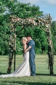 wedding arch nashville leslie adam nashville backyard wedding rosemary finch