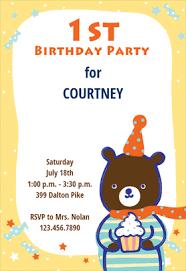 1st birthday teddy bear free printable birthday invitation