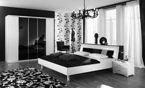 White Master Bedroom Black And White Bedroom Wooden Flooring Grey Headboard Bed