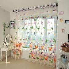 romantic butterfly curtain yarn tulle bedroom ready made finished