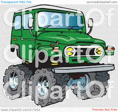 jeep transparent background royalty free rf clipart illustration of a green 4x4 cruiser